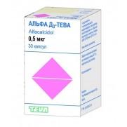 Alfa D3 30 soft capsules 0,5mcg Vitamin D Alfacalcidol Альфа D3