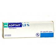АIRTAL Aertal cream 60g tube 15mg/mg Aceclofenac Аэртал крем