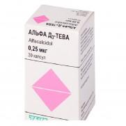 Alfa D3 30 soft capsules 0,25mcg Vitamin D Alfacalcidol Альфа D3