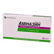 Aminazin inejction solution 2,5% 10 ampl 2ml Chlorpromazine Аминазин Paranoid states