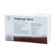 Anrdocur Depo introvenous injection solution 3ampl 3ml 300mg Cyproterone Андрокур