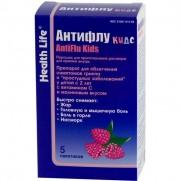 Antiflu KIds with Raspberry for Children powder for oral solution 5 packs Антифлу Кидс Helth life ARVI Colds Flu
