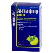 Antiflu powder for oral solution 5 packs Антифлу Helth life ARVI Colds Flu