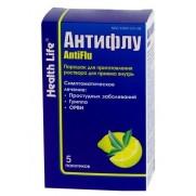 Antiflu powder for oral solution 5 packs Антифлу Helth life ARVI Colds Flu