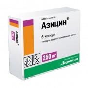 Azicin 3 tabl 250 mg & 6 tabl 500 mg Azithromicyn AZITHROMYCINUM Азицин
