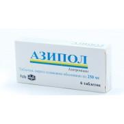 Azipol 6 tablets 250 mg AZITHROMYCINUM Азипол