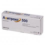 Azitrox 3 tabl 500 mg AZITHROMYCINUM Азитрокс