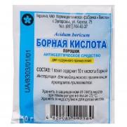 Boric acid Сrystallized powder 10g Dermatitis Eczema Борная кислота