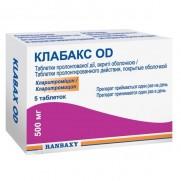 CLABAX OD 5 tabl 500mg CLARITHROMYCINUM Клабакс ОД