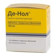 De-Nol De Nol 56 tablets / 112 tablets 120mg Bismuth subcitrat Gastritis Astellas Pharma Europe