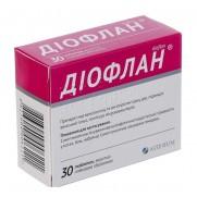 Dioflan 30 tablets 500mg Diosmin Hesperidin Диофлан