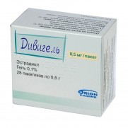DIVIGEL 0,1% 28 packs 0,05g & 1g in pack Estradiol Дивигель Menopause