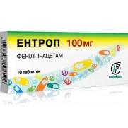 Entrop 10 tablets & 20 tablets 100mg Phenylpyracetam Nervous diorders Энтроп