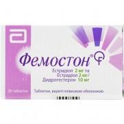 Femoston (estradiol, dydrogesterone) 2mg/10mg 28 tablets Фемостон