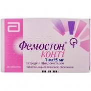 Femoston Conti (estradiol, dydrogesterone) 1mg/5mg 28 tablets Фемостон конти