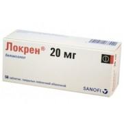 Lokren Locren 28 tablets 20mg Betaxolol hydrochloride BETAXOLOLUM Локрен