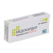 Medocardil 30 tablets 6,25mg Carvedilol Carvedilolum Медокардил