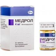 Medrol (Methylprednisolone) 4mg 30 tablets Медрол