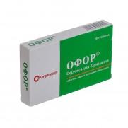 Ofor 10 tabl Ofloxacin Ornіdazol Офор
