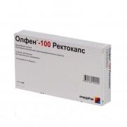 OLFEN 100 Retocaps 5 rectal capsules 100mg DICLOFENACUM Олфен