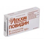 Povidin 5 vaginal supp 0,3g Povidone-iodine Повидин