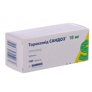 Torasemid Sandoz 100 tablest 20mg Torasemidum Торасемид