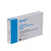 Zinnat 10 tabl 250 mg 500 mg CEFUROXIMUM Зиннат