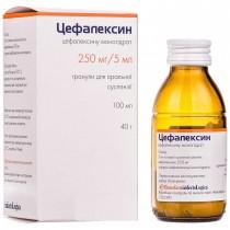 Cephalexin CEFALEXINUM granules for oral suspension 100ml (250mg / 5ml) 40g bottle Цефалексин