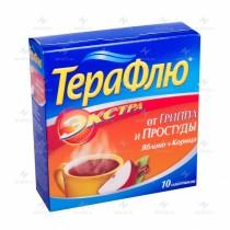 TheraFlu EXTRA powder for oral solution  Lemon & Apple / Cinnamom 10 packs 650mg Paracetamol ТераФлю FLu & ARVI
